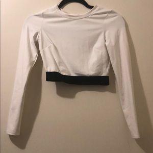 Bebe white long sleeve